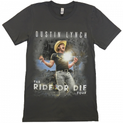 Dustin Lynch Asphalt Ride or Die Tour Tee